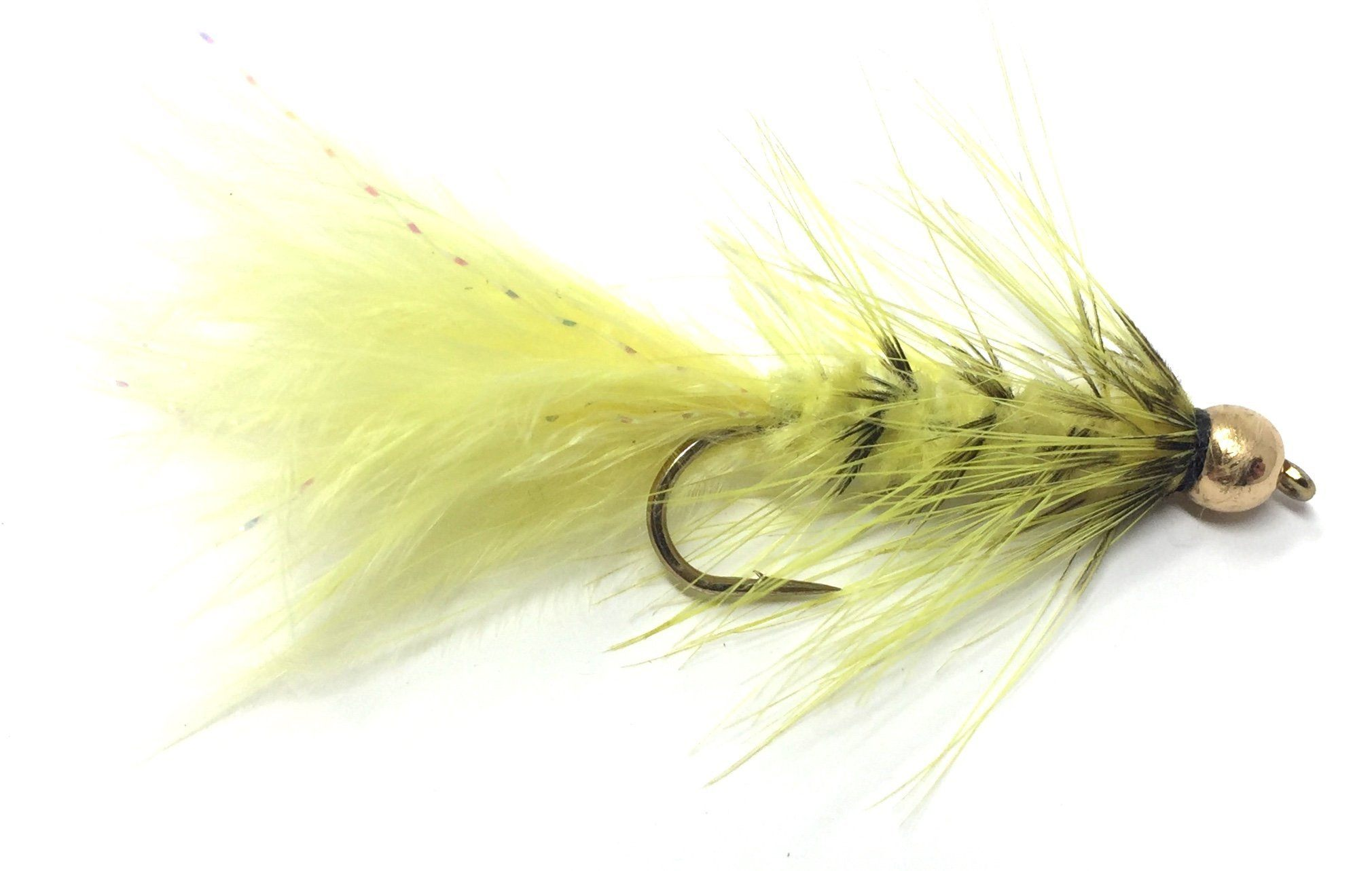 Woolly Bugger Brown Bead Head Size 6 per 3