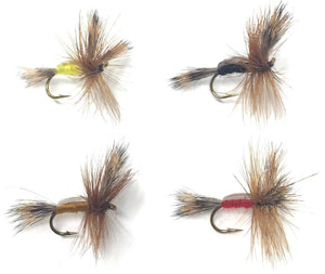 Feeder Creek Fly Fishing Flies - The HUMPY Assortment - 32 Dry Flies - 4 Sizes - Feeder Creek