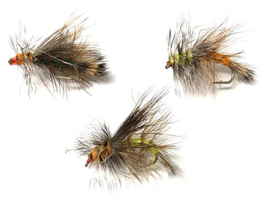 Feeder Creek STIMULATOR DRY FLIES 27 in a Variety of Colors - Sizes 12,14,16 (3 of Each Size) - Feeder Creek