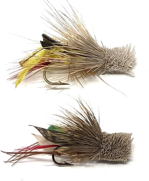 Feeder Creek Fly Fishing Trout Flies - Dave's Hopper Assortment - Standard and Green - Sizes 10 and 12