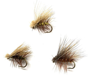 Feeder Creek Fly Fishing Trout Flies - ELK HAIR CADDIS VARIETY - 24 Flies 3 Size Assortment 14,16,18 - Feeder Creek