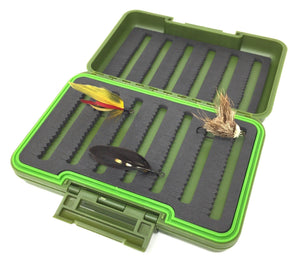 Feeder Creek  Fly Box Waterproof  - Large 4-Sided - 524 Split Foam Fly Slots and Swing Leaf Insert - Feeder Creek