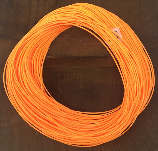 Fly Fishing Line - 100 Feet Weight Forward Floating and Sinking in Orange - Size 5 Floating - Feeder Creek