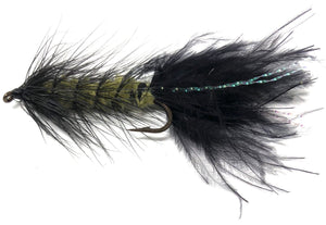 Wooly Bugger Fly Fishing Flies for Trout and Other Freshwater Fish - One Dozen Wet Flies in Various Patterns - 4 Size Assortment 6, 8, 10, 12 (3 of Each Size)