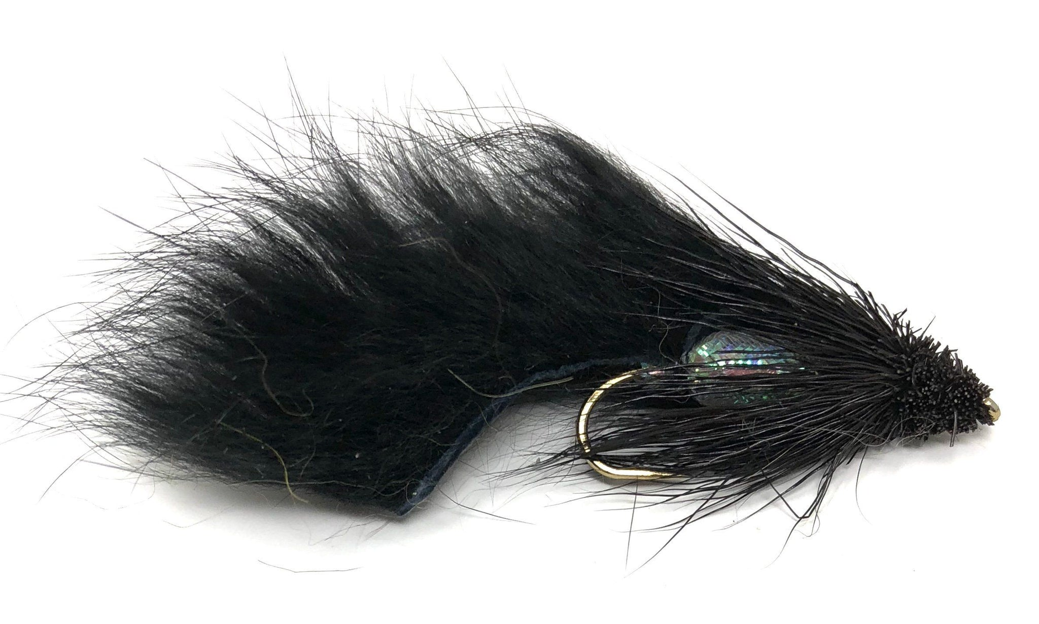 20 Pcs Black Zonker Streamers Trout Fly Fishing Flies Lures With Free Fly Box