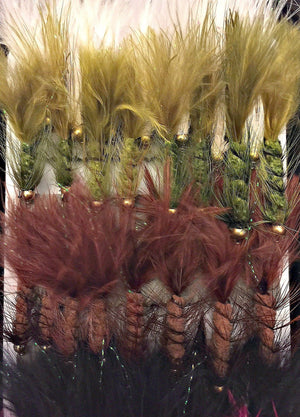 Fly Fishing Assortment - Bead Head Wooly Bugger - 36 Flies with Fly Box - 5 Color Variety - Feeder Creek