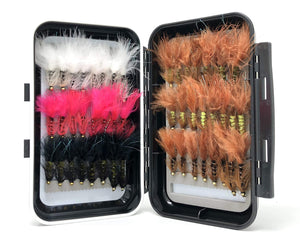 Bead Head Wooly Bugger Assortment- 48 Flies - 6 Patterns