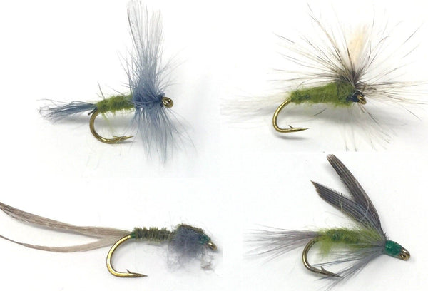Blue Wing Olive Assortment dry parachute wet nymph