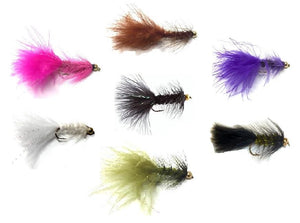 Bead Head Wooly Bugger Flies- One Dozen - 4 Sizes 6, 8, 10, 12 (3 of Each Size) - Many Colors to Choose From