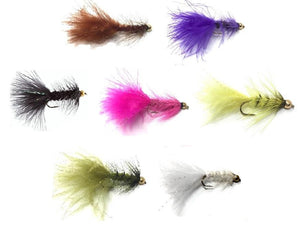 Bead Head Wooly Bugger Fly Fishing Flies - One Dozen - Many Colors and Sizes