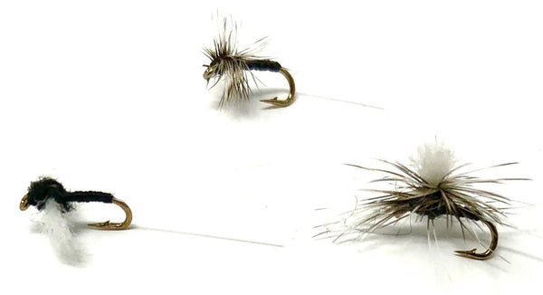 Trico Assortment (Trico, Parachute, and Spinner) - 18 Flies - Sizes 20, 22, 24