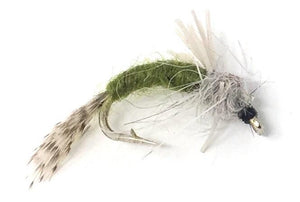 Wet Flies - Lightning Bug, Pupa, Mayfly, Caddis, WD50 - One Dozen - 3 Size Assortment 14,16,18 (4 of Each Size)