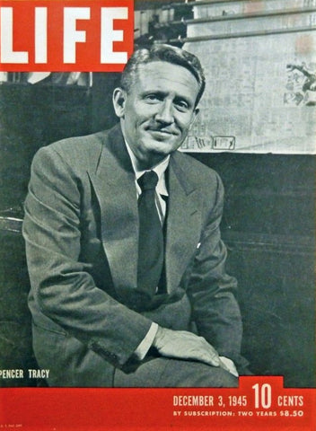 Spencer Tracy - Life Mag 1945 Cover