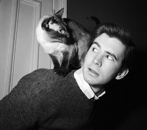 Anthony Hopkins and his cat