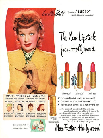 Max Factor and Lucille Ball