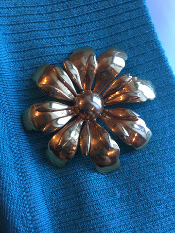 My Mother's Gold tone brooch