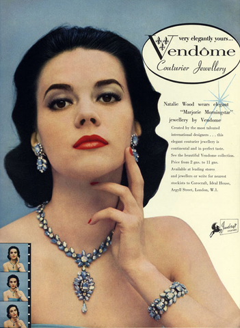 Nathalie Wood advertising for Vendome
