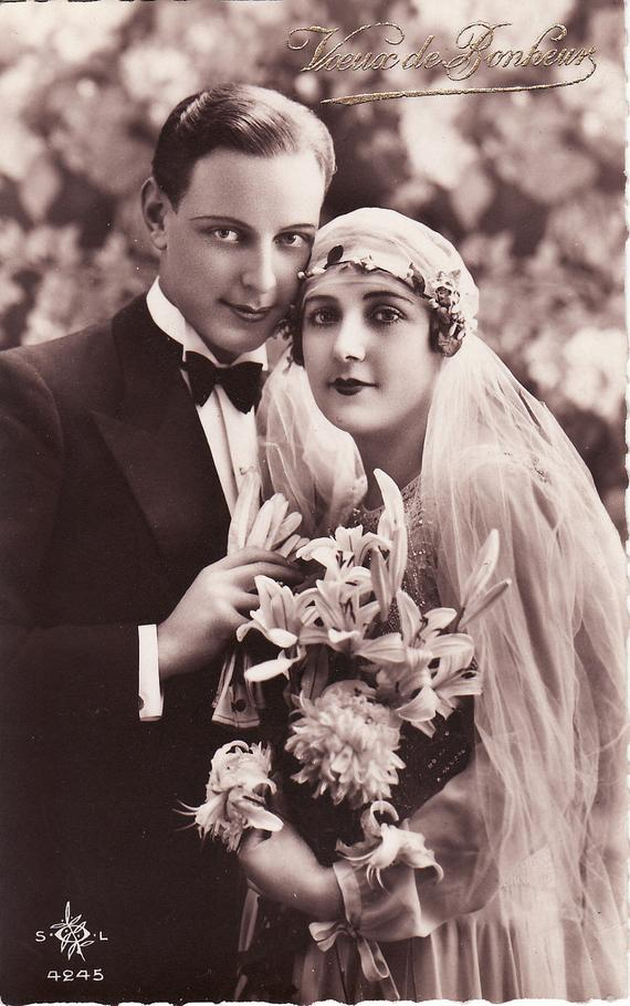 1920s Wedding couple
