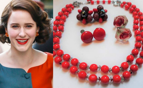 Mrs Maisel - red jewelry