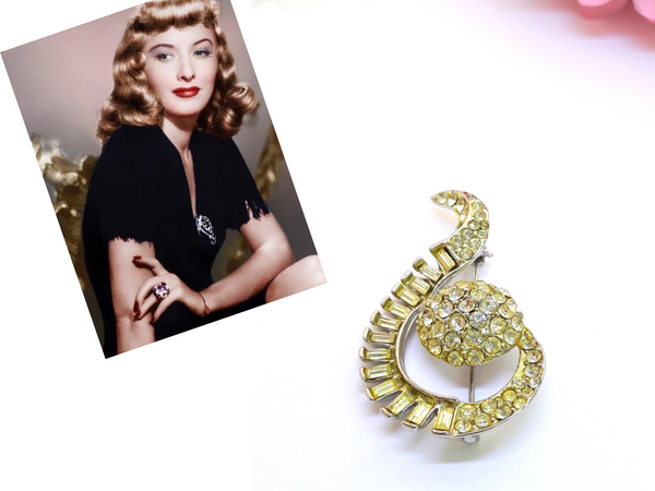 The Ultimate 1950s Vintage Rhinestone Brooch that Every Woman Should Wear
