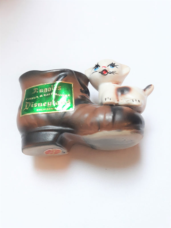 Ruggles Disneyland Vintage Cat and Boot Souvenir - Made in Japan
