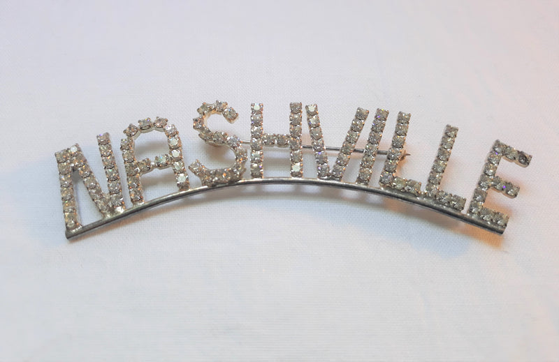 Unique Rhinestone NASHVILLE Brooch Pin