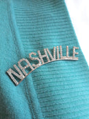Unique Rhinestone NASHVILLE Brooch - Pin