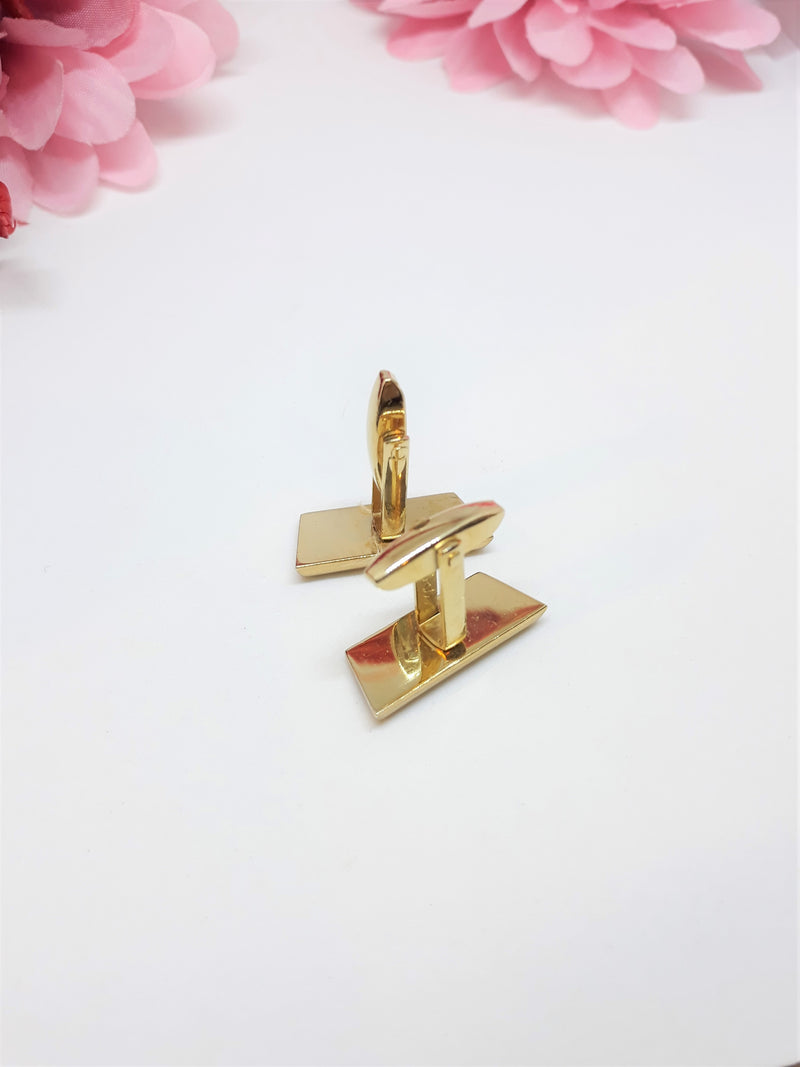 Stunning Gold Tone Vintage Cuff Links