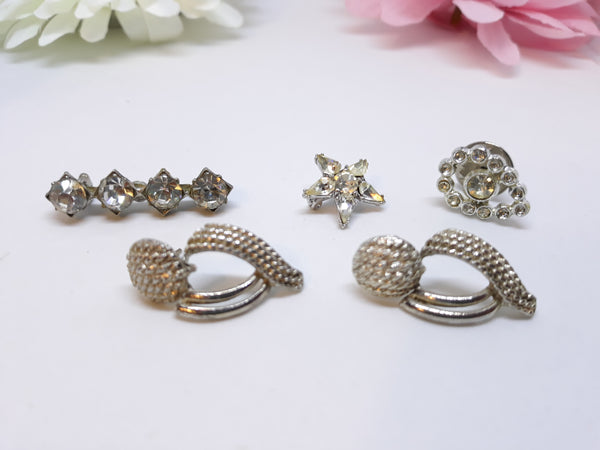 Vintage Rhinestone and Silver Jewelry Collection