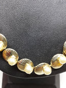 Vintage DUANE Signed Gold, Clam Shaped with Pearl, 1950s Necklace
