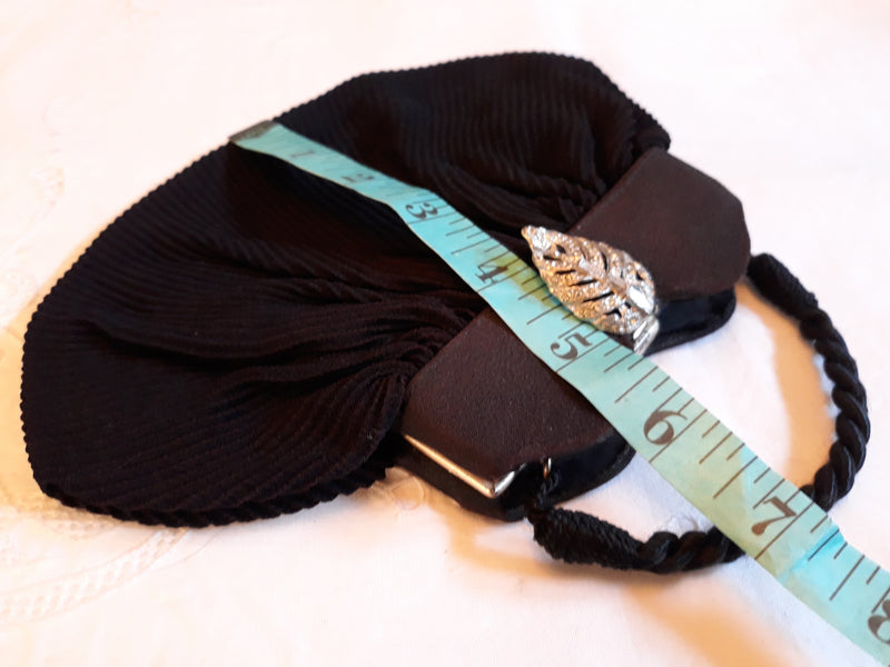 Delicate and Dainty 1940's Black Purse - Nice Collector's Item