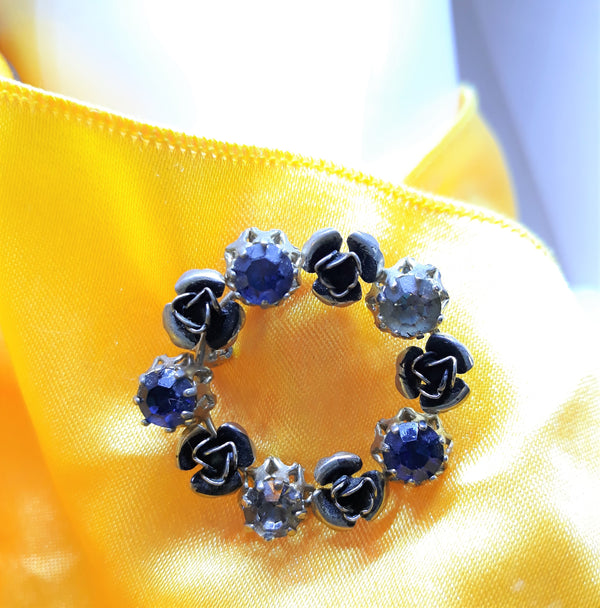 Triad Vintage Brooch - Blue, Gorgeous. Elegant, Ready to Ship, 1950's - 1960's