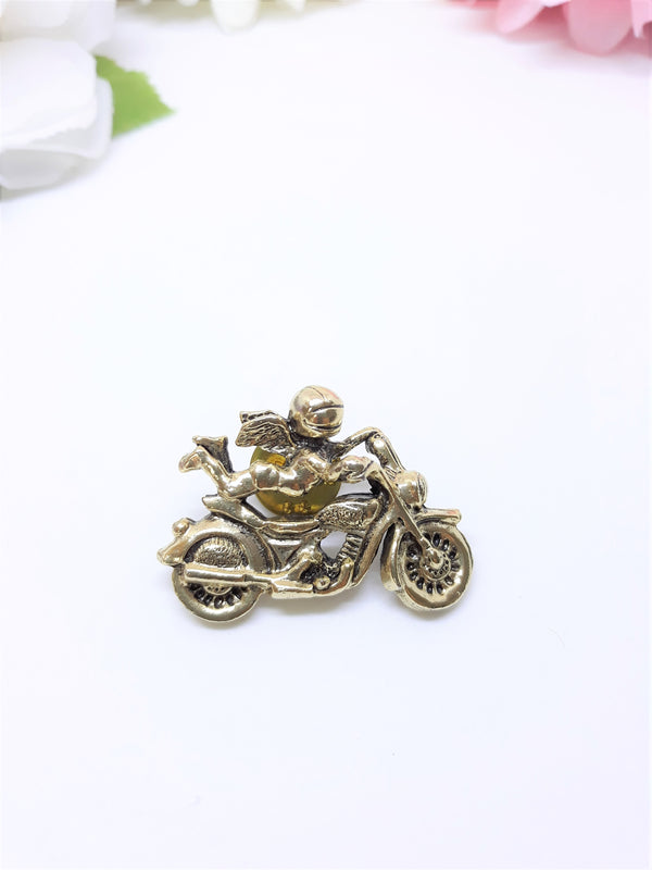 Vintage Camco Angel on a Motorcycle Lapel Pin