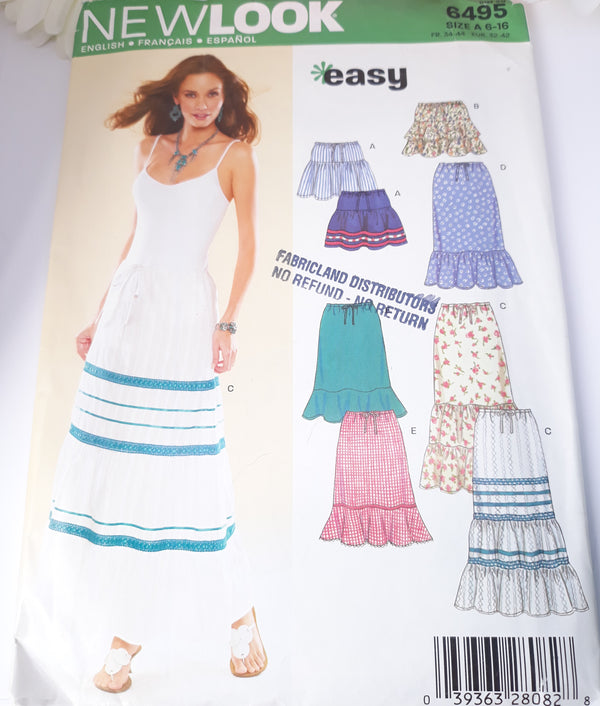 New Look 6495 Skirt Pattern - Uncut, Simplicity 2005