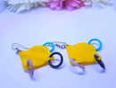 1980s Plastic Dangle Earrings - Pierced