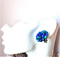 1950s Pantone Blue Cluster Earrings