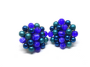 Gorgeous 1950s Blue and Teal Clip-on Earrings