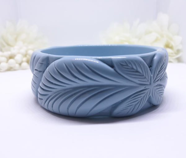 Vintage Inspired, 1940s Reproduction Tiki Bangle in Blue
