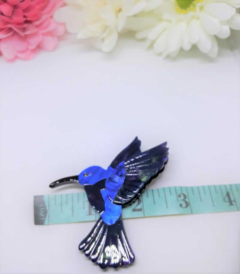 Blue Bird Acrylic Brooch