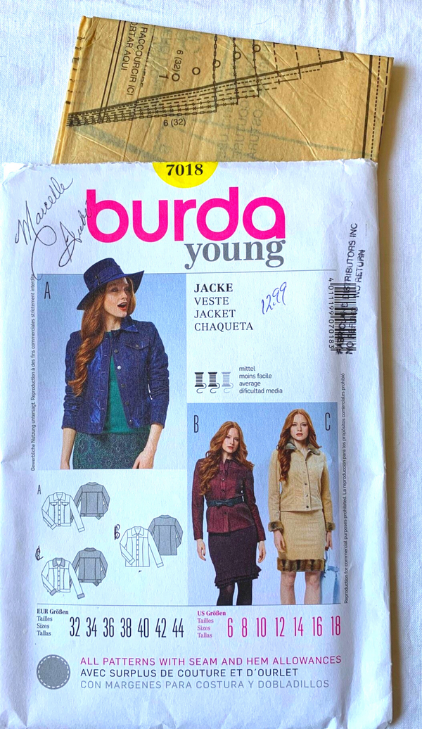 Burda Young 7018 Uncut Sewing Pattern - Size 6-18 or 32-44 Eur