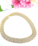 1960s Cleopatra Style Chain-link Choker Necklace