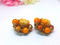 Judy Lee Vintage Amber Clip-on Earrings