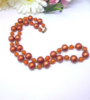 Vintage 1960s-70s Copper Beaded Necklace