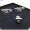 Sarah Coventry Silver Tone and Blue Rhinestone Cuff Links, Signed