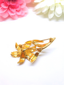 Gold and Pearl Floral Brooch - 1960s/70s