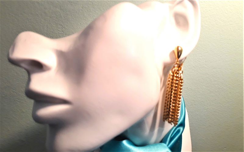 Sarah Coventry Gold Dangle Earrings - Clip-on 1960s