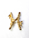 1960s Sarah Coventry - Alphabet Pin or Initial H Insignia Brooch