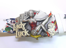 Lady Luck Belt Buckle, Rockabilly, Pin-up, Tattoos, Sailor Jerry like, Dragon Designs Ltd