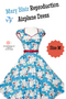 Vintage Inspired Mary Blair Bon Voyage Reproduction Dress - Size Medium
