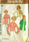 Simplicity 7057 1970s Size Medium (12-14) Blouse Pattern - Pre-cut - ready to create